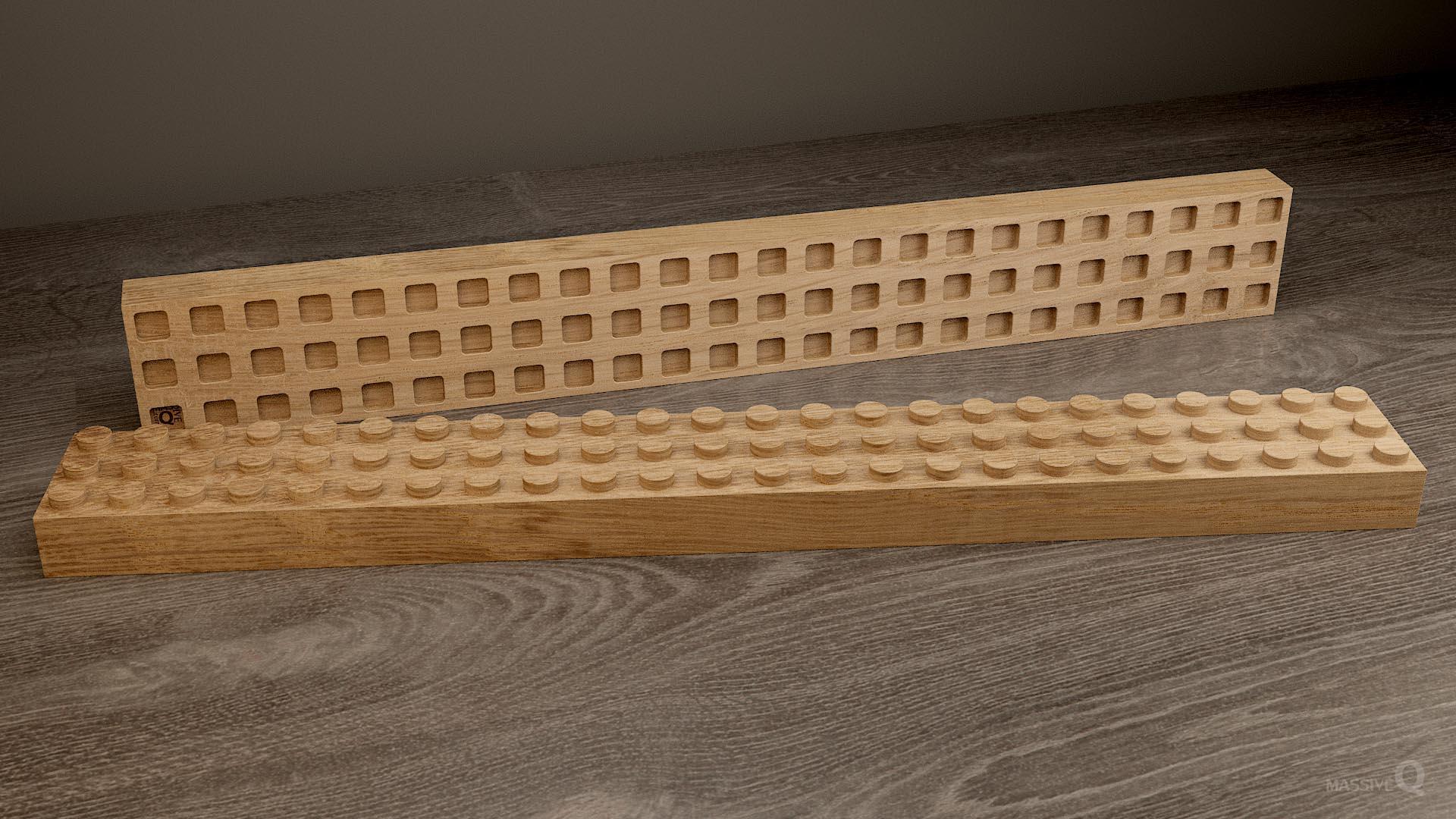 Q Brick 3×24 – Oak