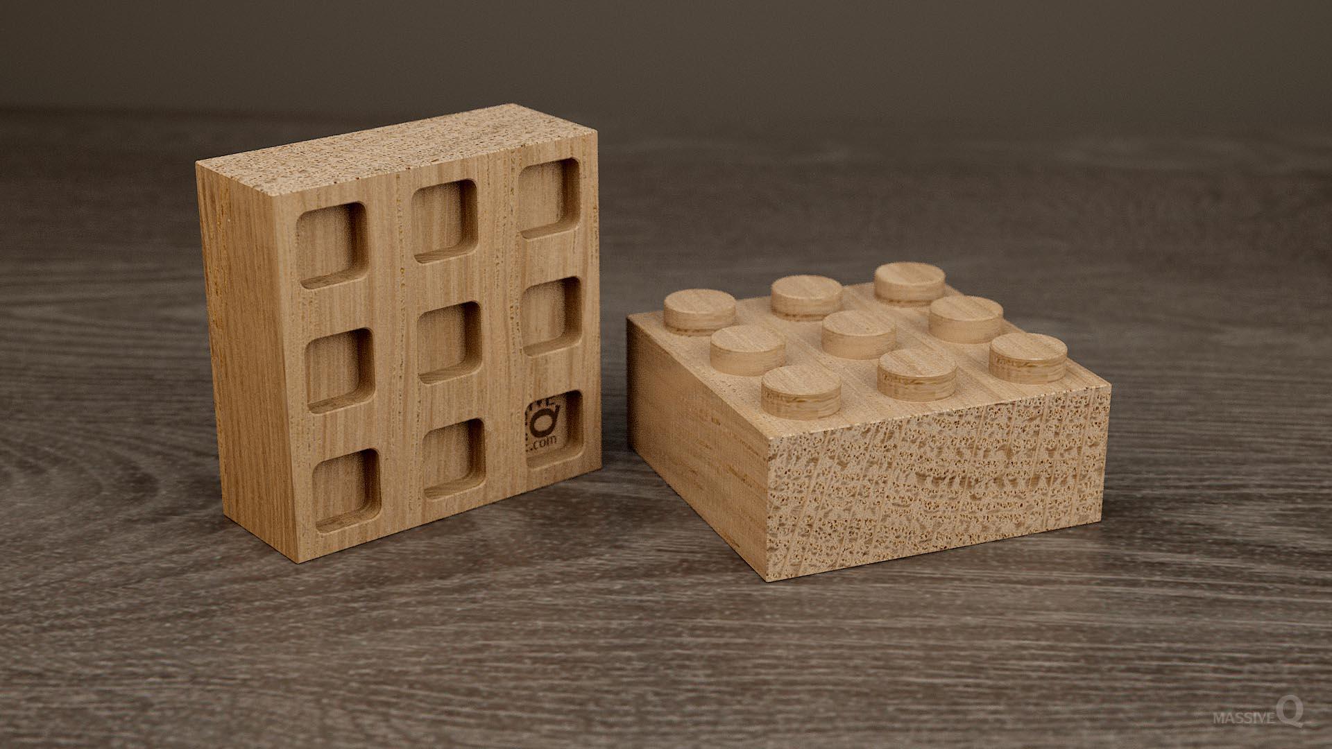 Q Brick 3×3 – Oak
