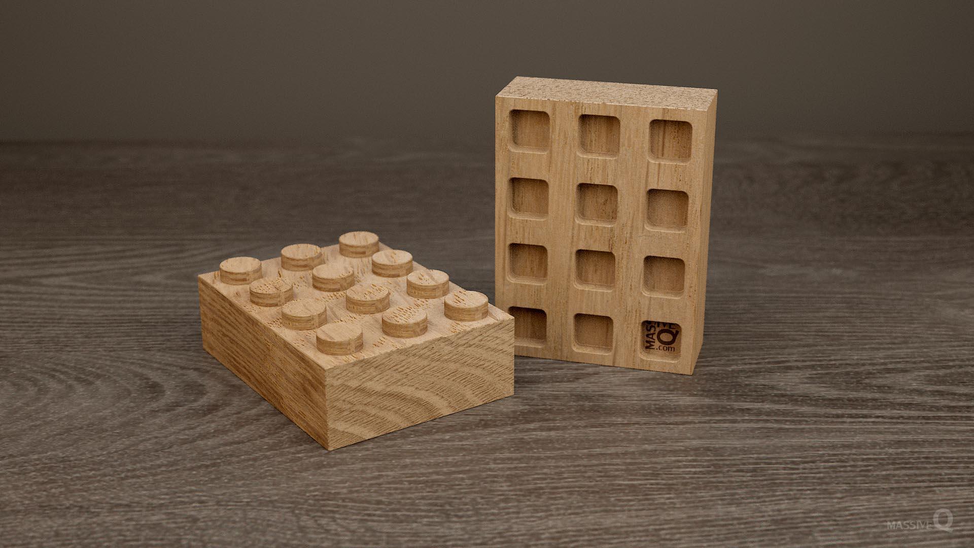 Q Brick 3×4 – Oak