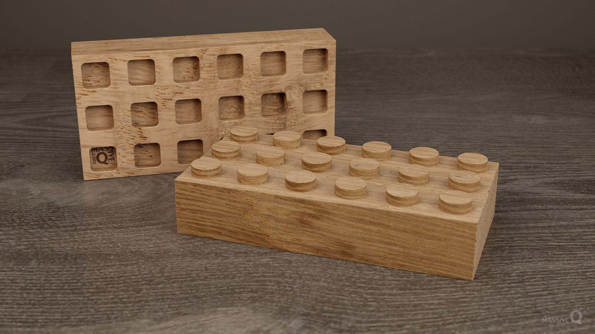 Q Brick 3×6 – Oak