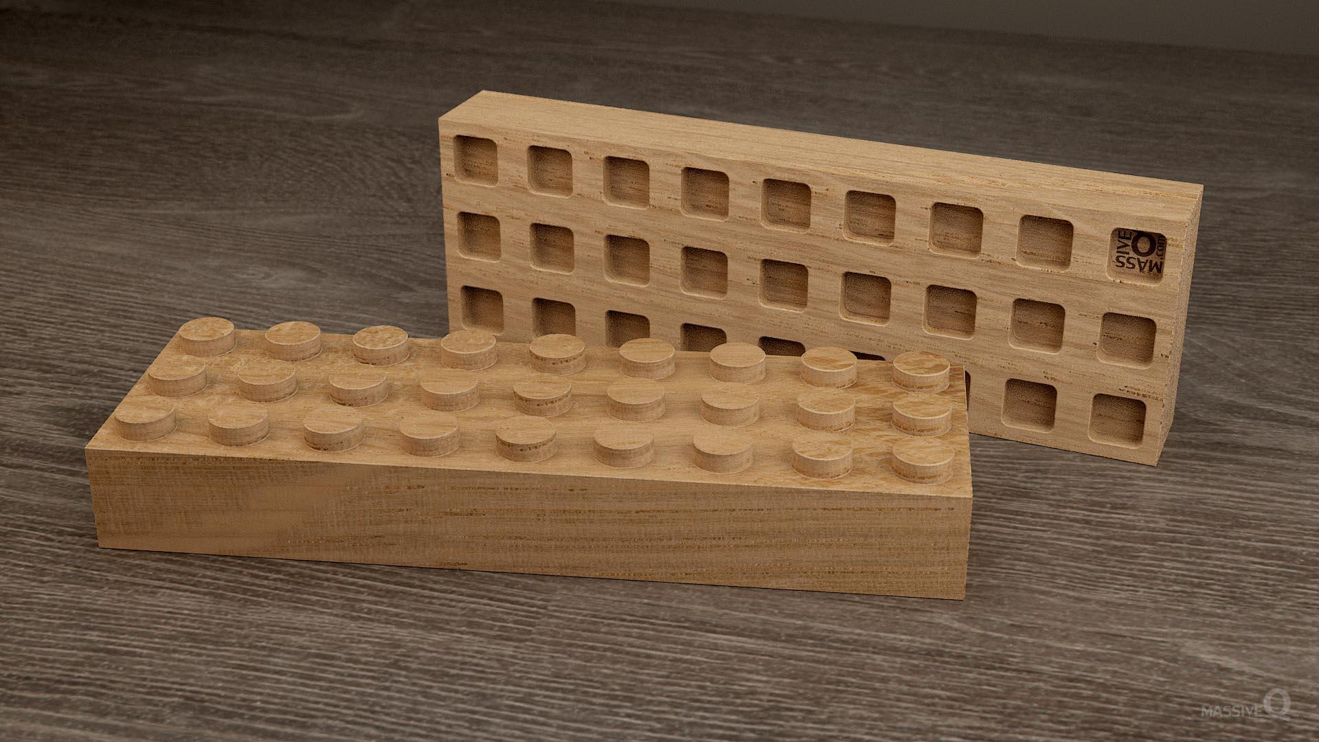 Q Brick 3×9 – Oak