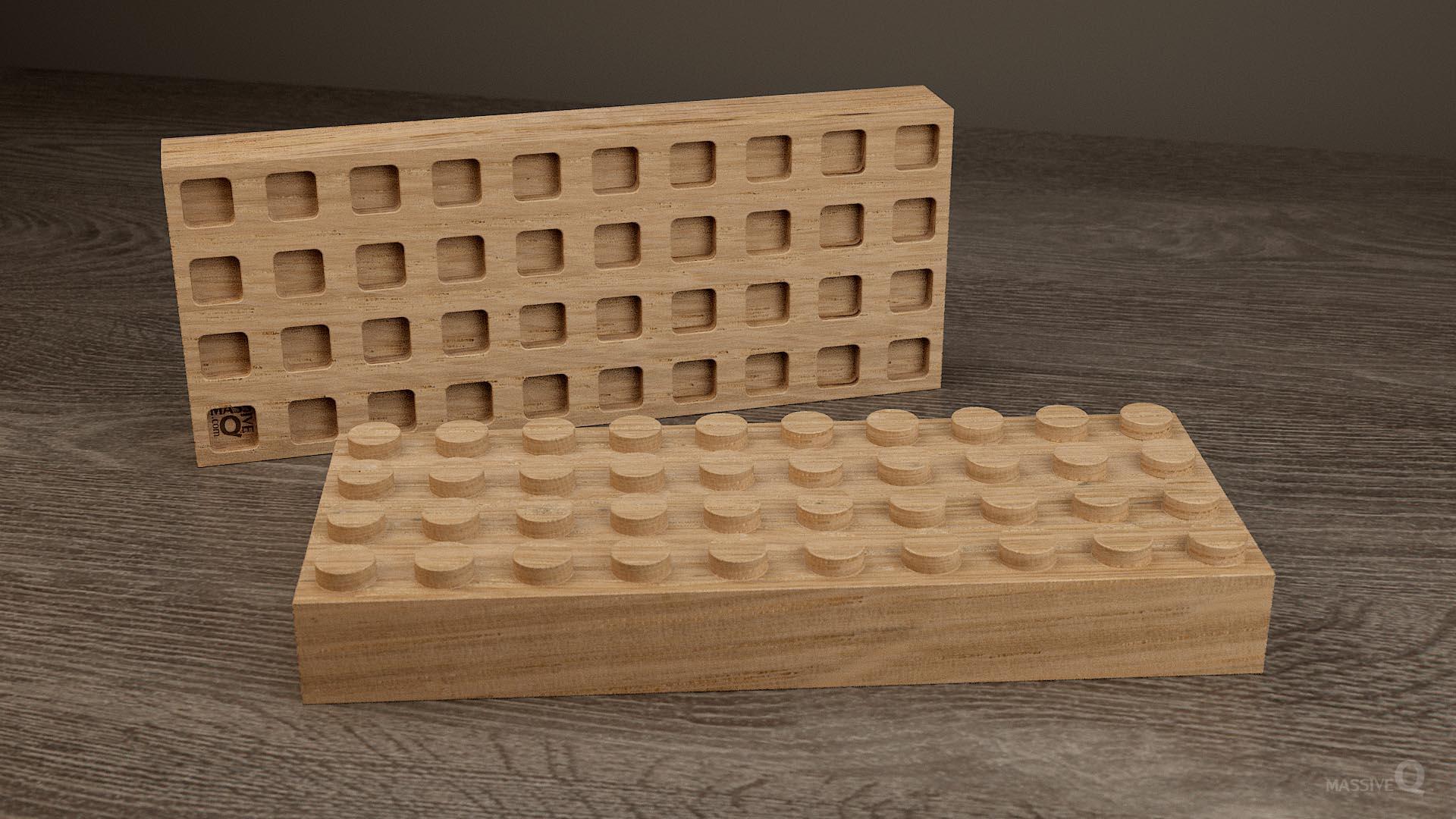 Q Brick 4×10 – Oak