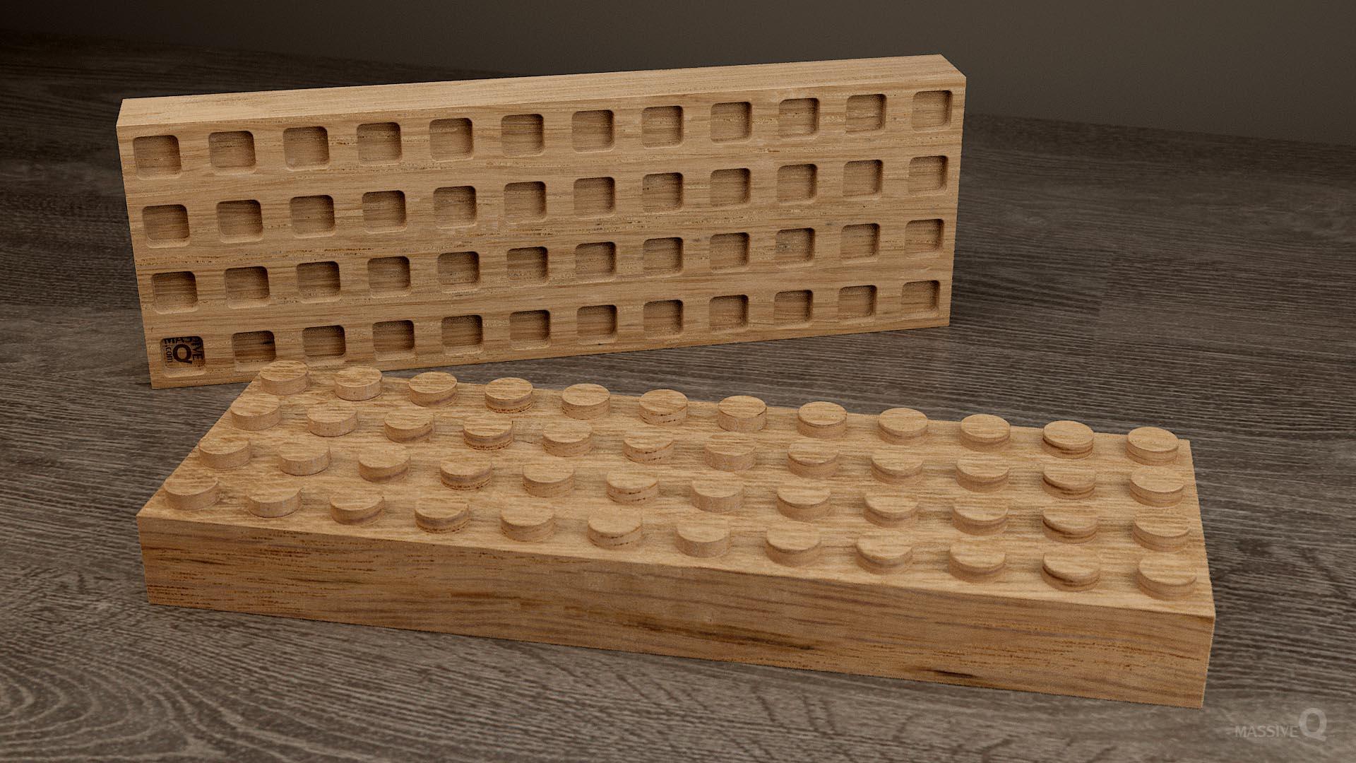 Q Brick 4×12 – Oak