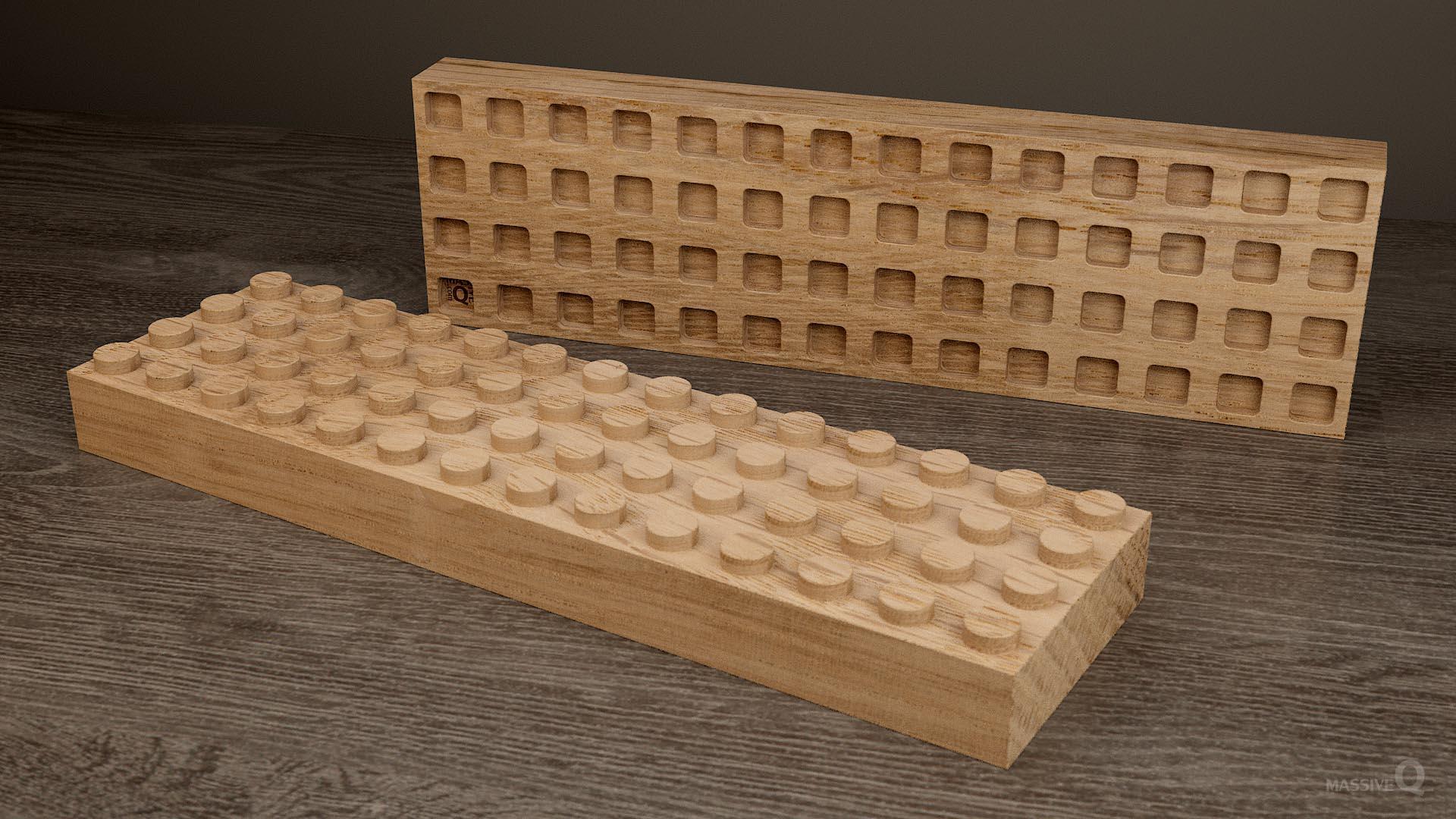 Q Brick 4×14 – Oak