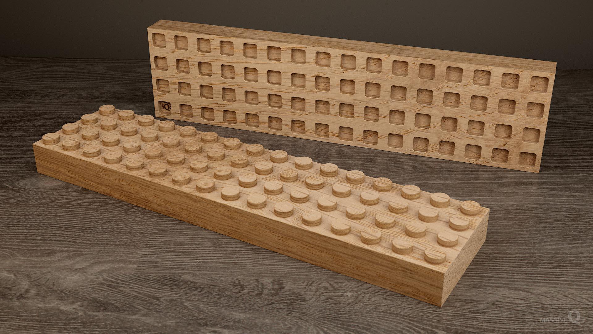 Q Brick 4×16 – Oak