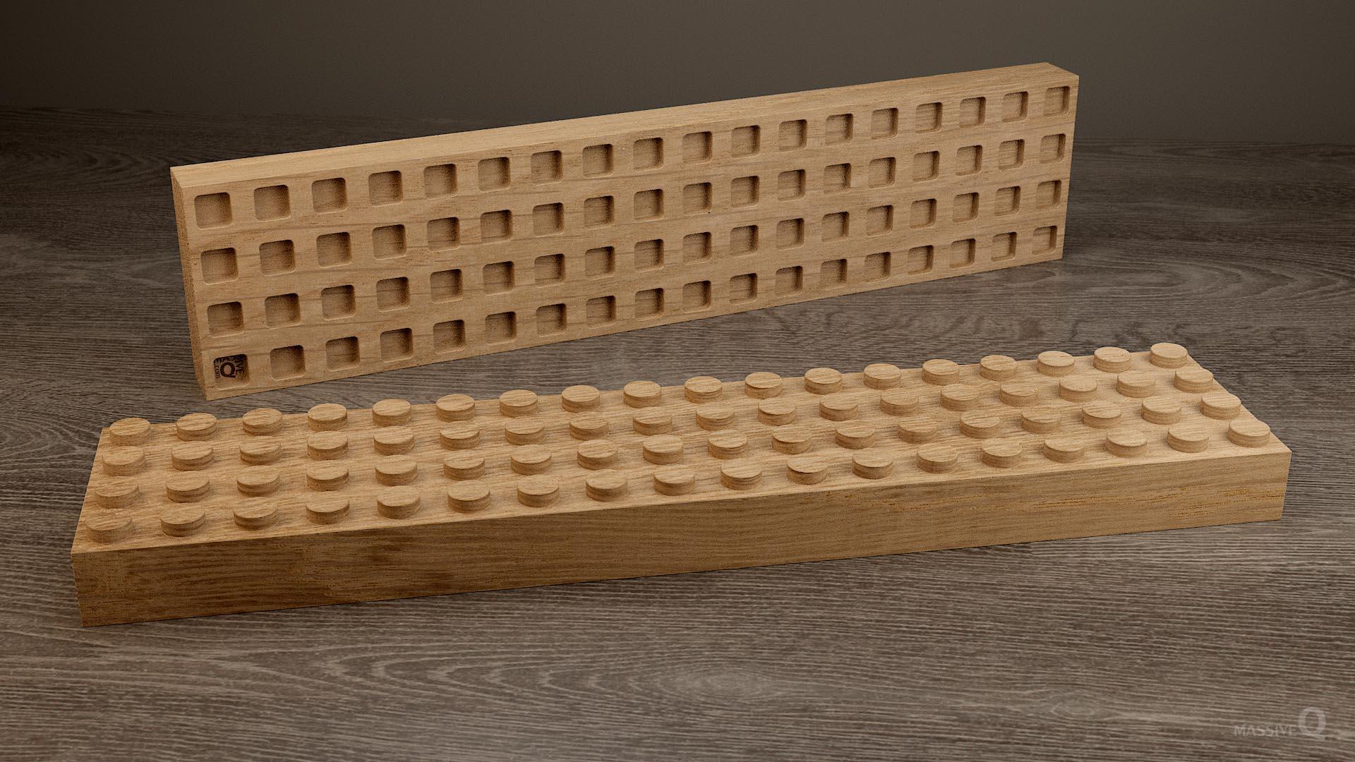 Q Brick 4×18 – Oak