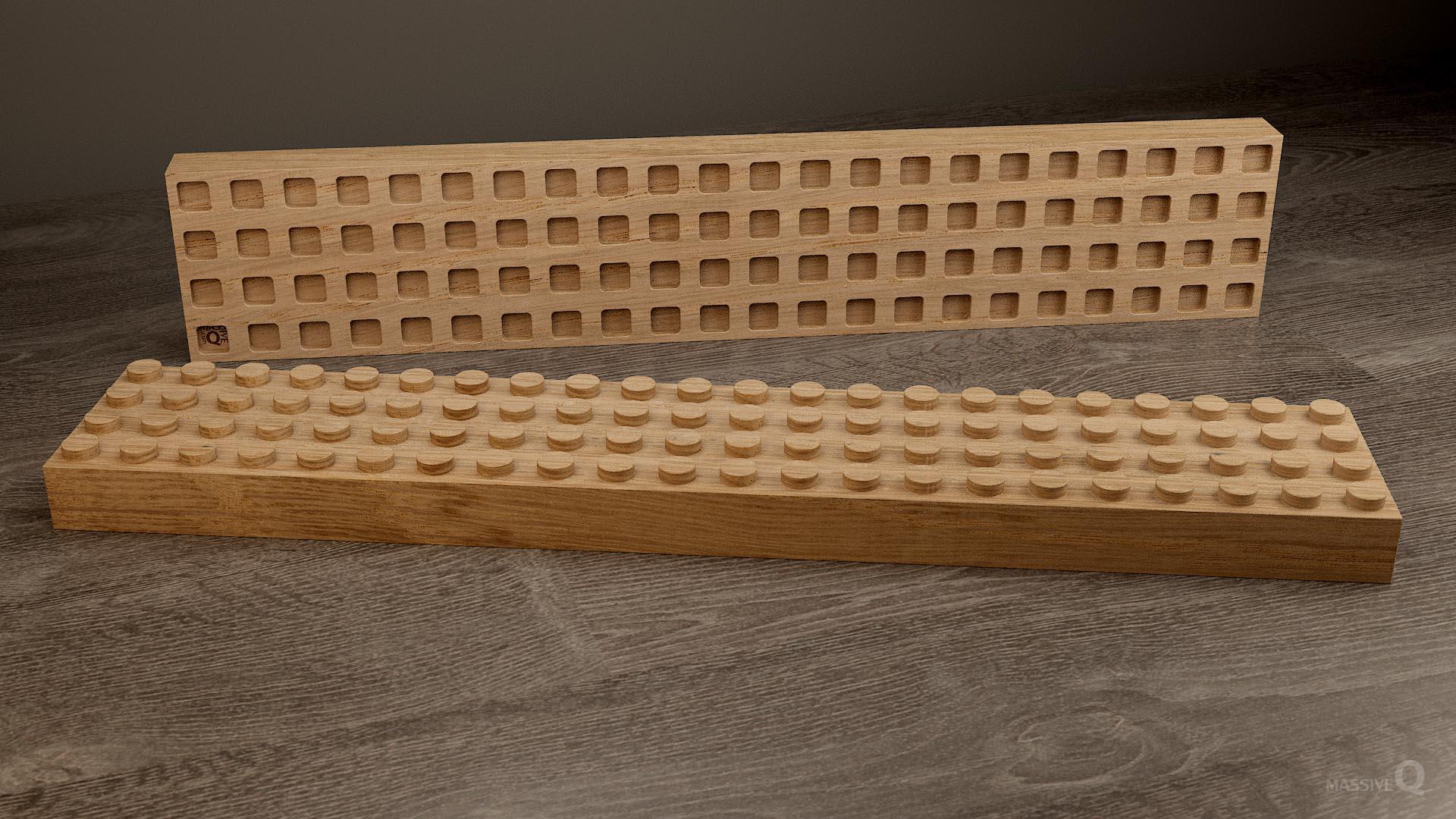 Q Brick 4×22 – Oak