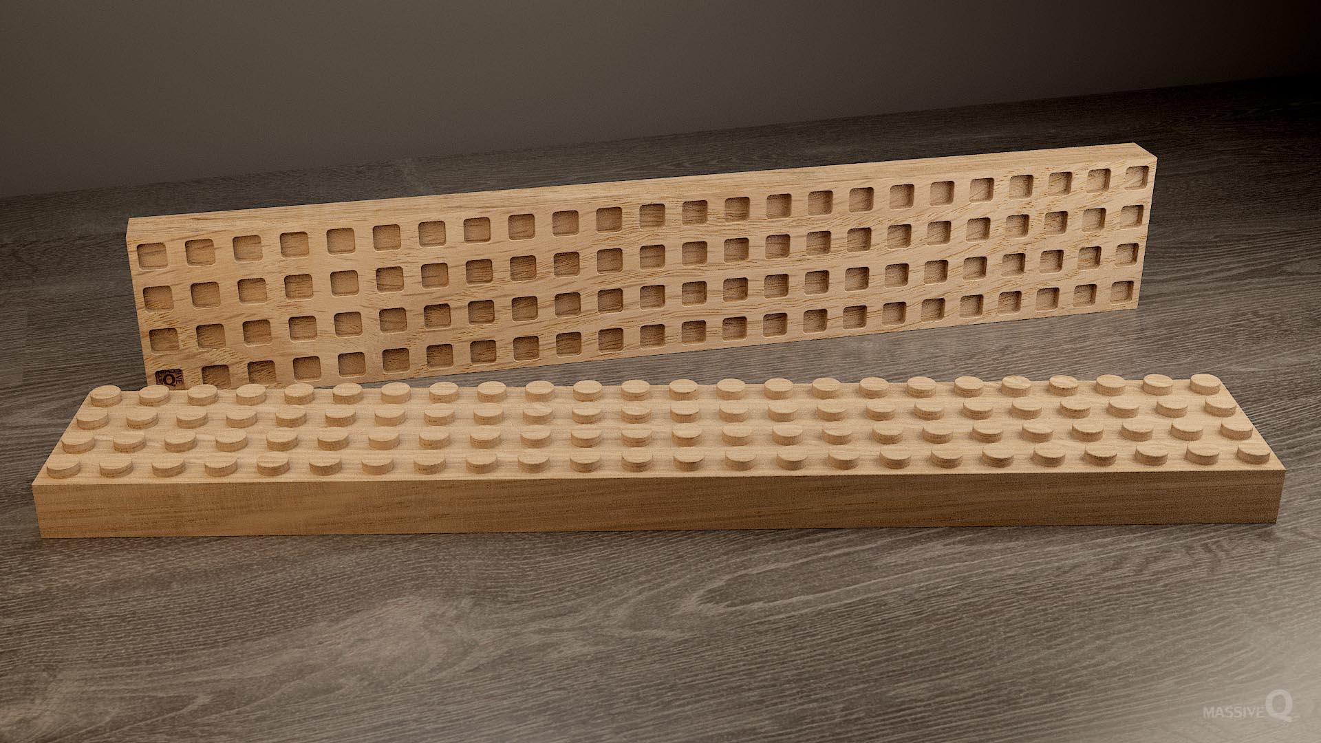 Q Brick 4×24 – Oak