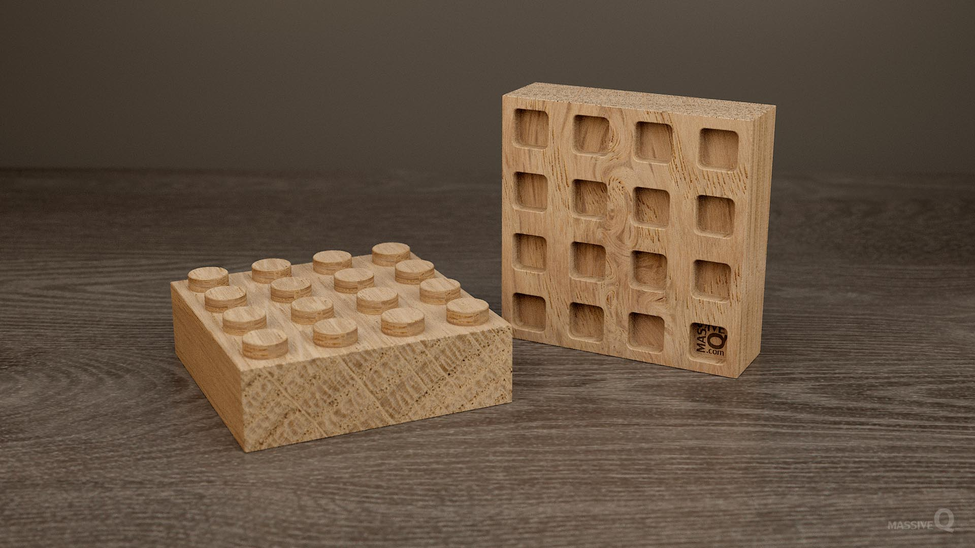 Q Brick 4×4 – Oak