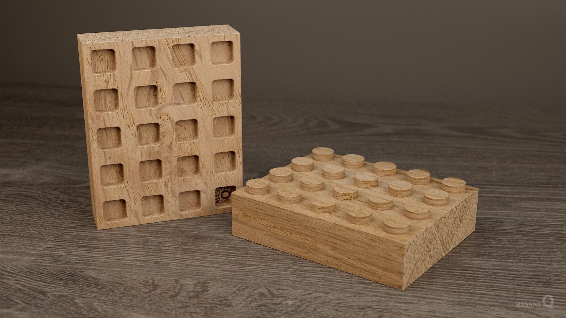 Q Brick 4×5 – Oak