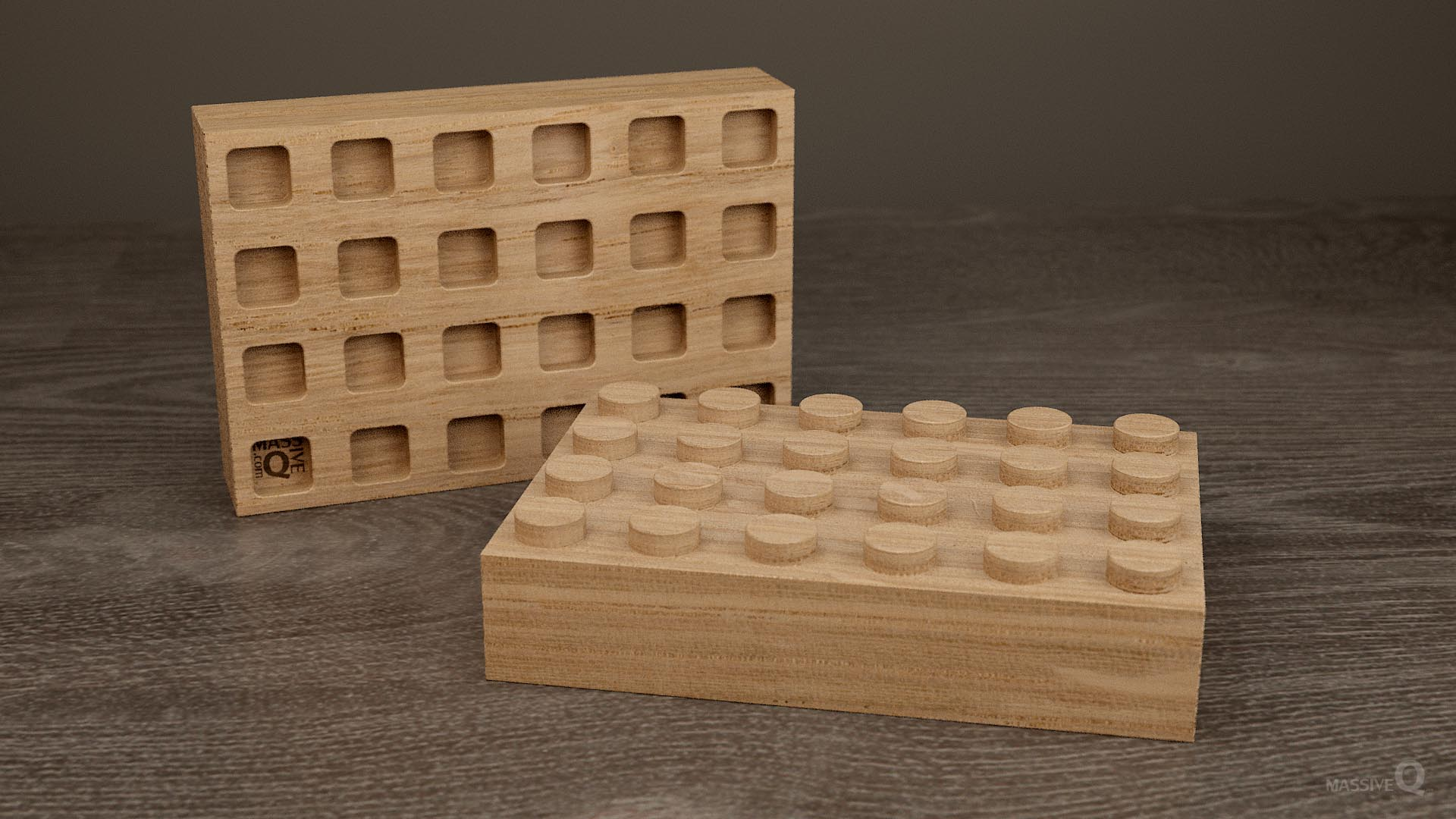 Q Brick 4×6 – Oak
