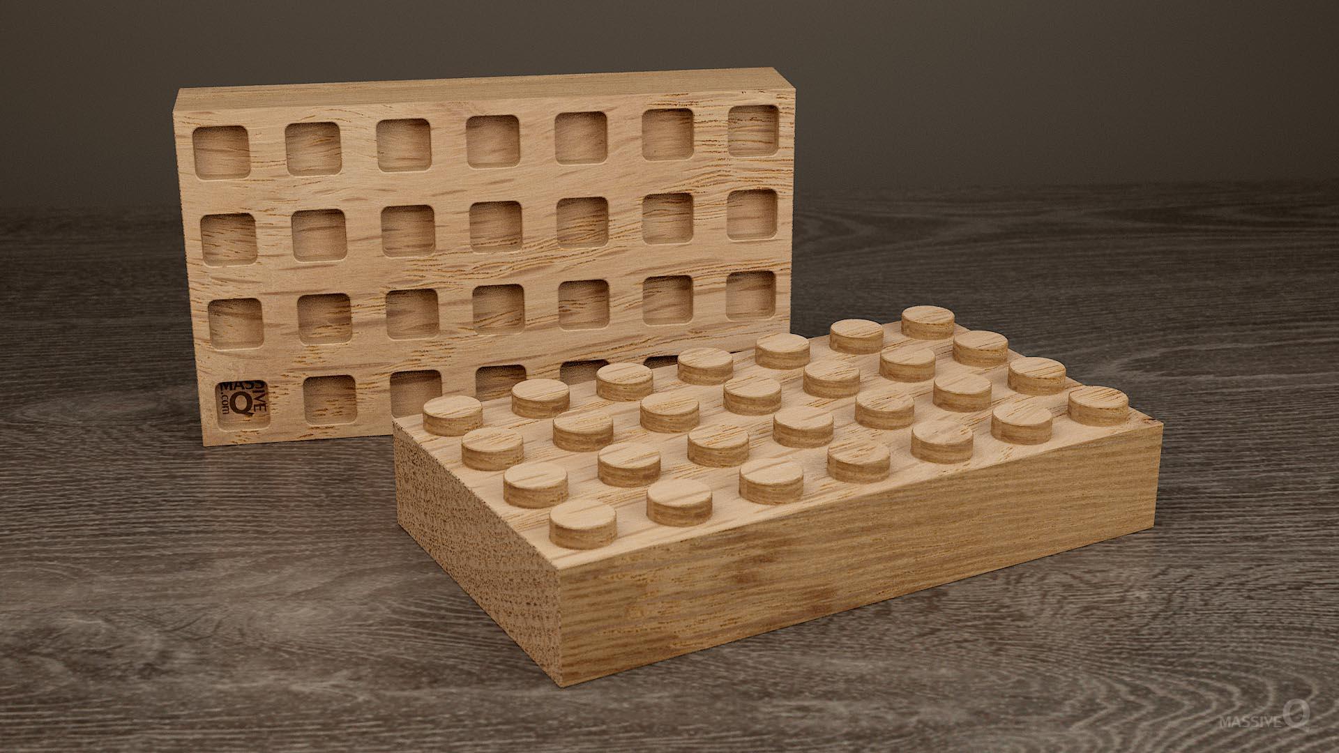 Q Brick 4×7 – Oak