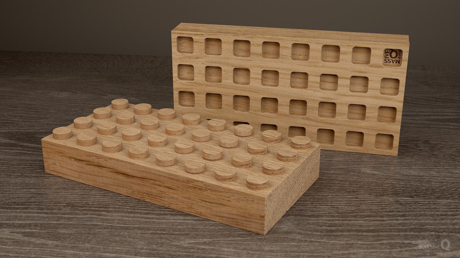 Q Brick 4×8 – Oak