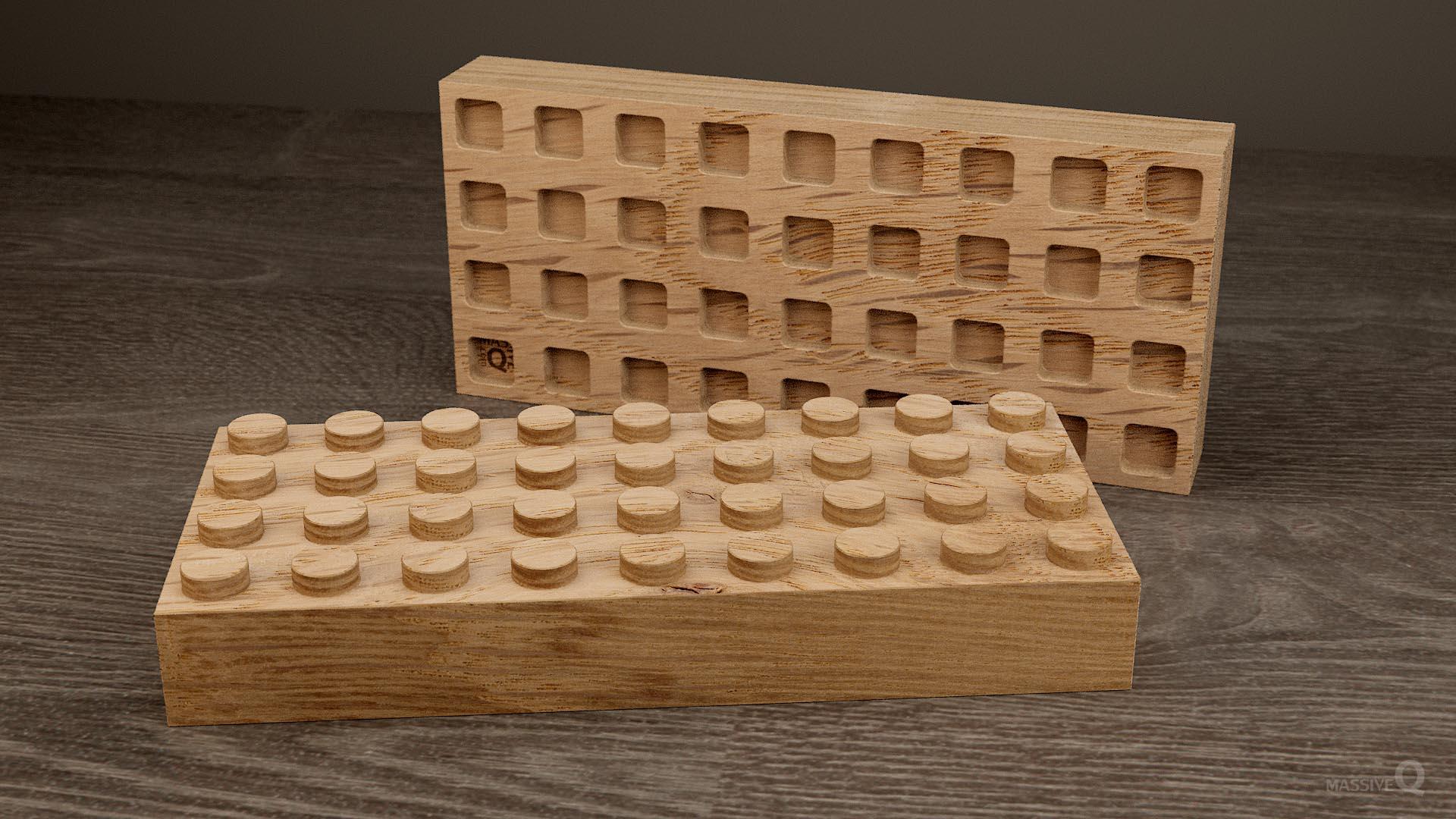 Q Brick 4×9 – Oak