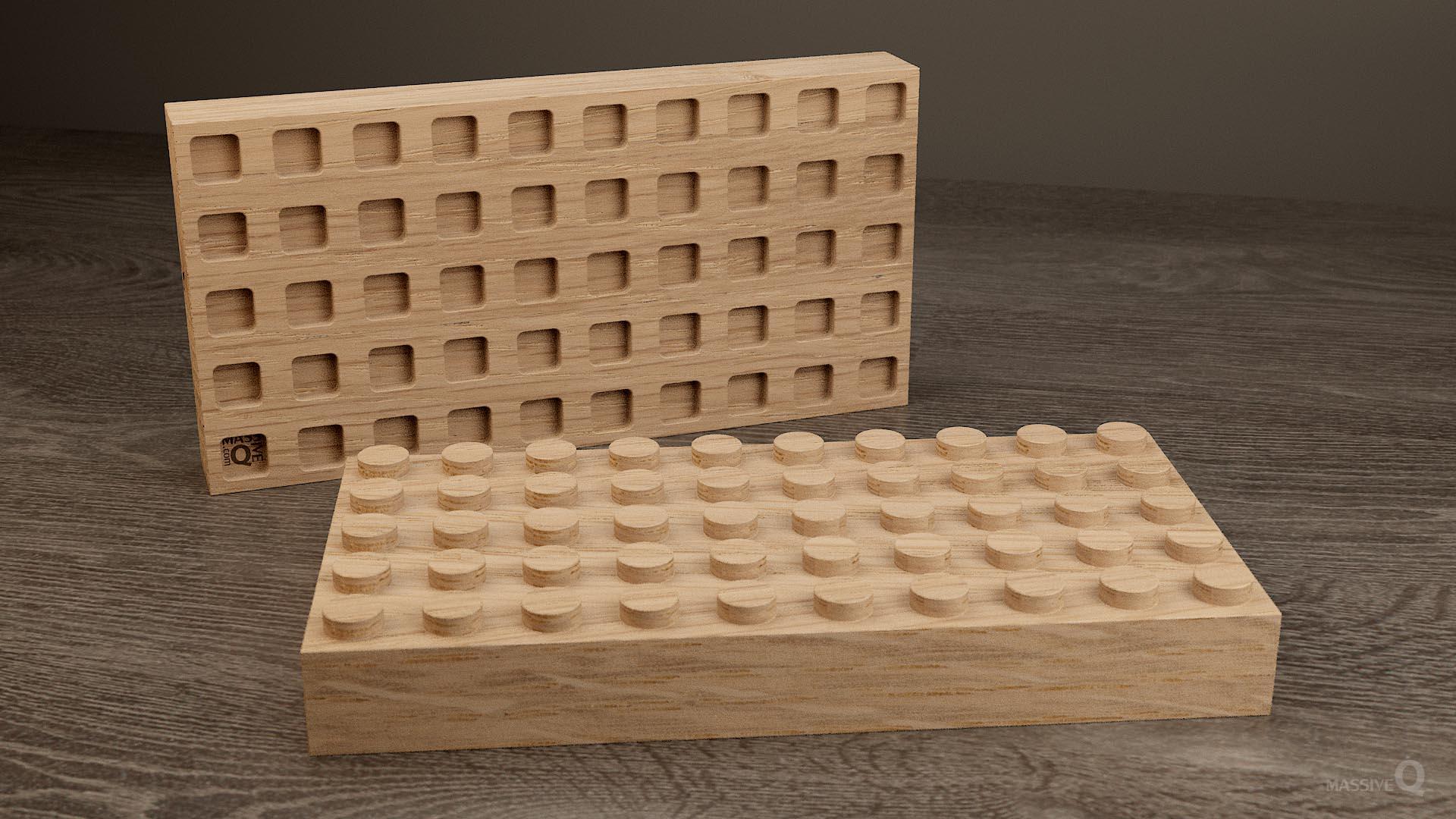 Q Brick 5×10 – Oak