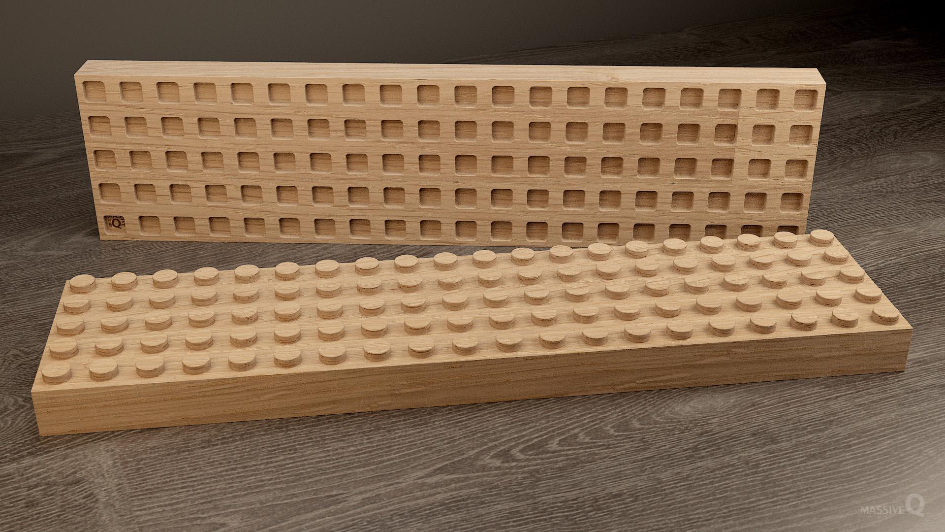 Q Brick 5×20 – Oak