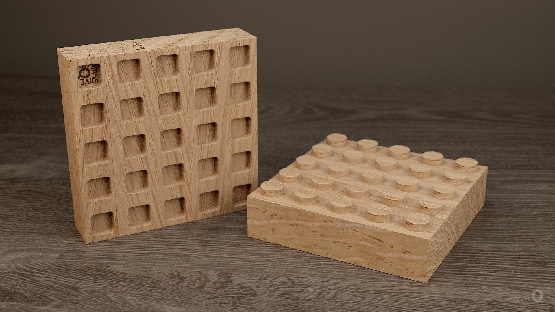 Q Brick 5×5 – Oak