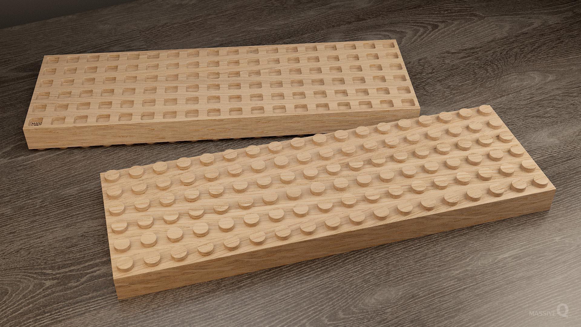 Q Brick 6×18 – Oak