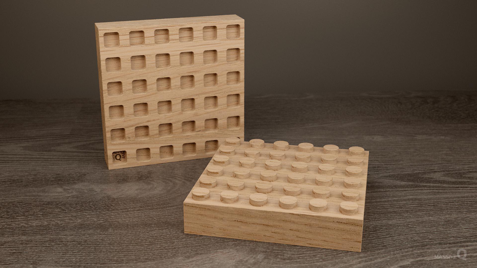 Q Brick 6×6 – Oak