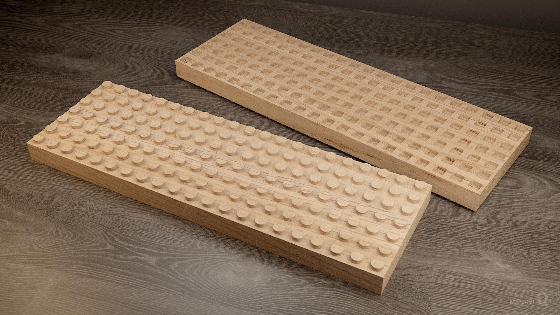 Q Brick 7×21 – Oak
