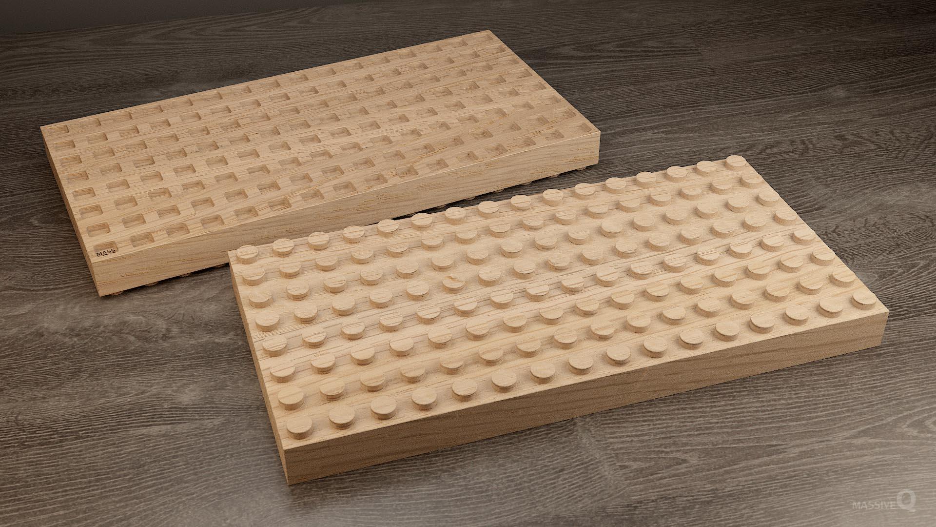 Q Brick 8×16 – Oak