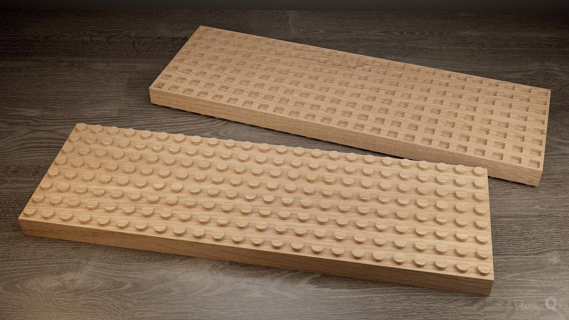 Q Brick 8×24 – Oak