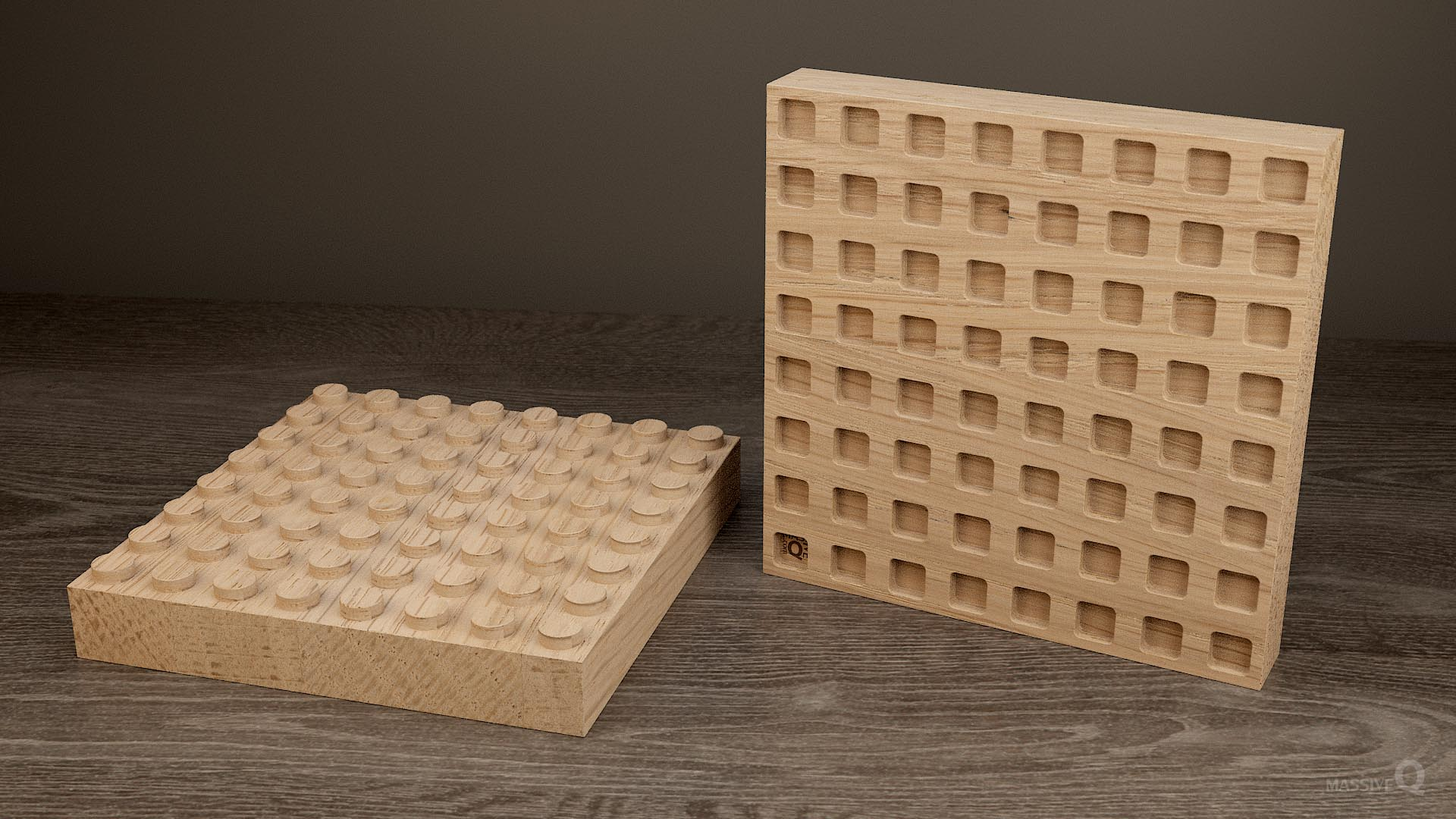 Q Brick 8×8 – Oak