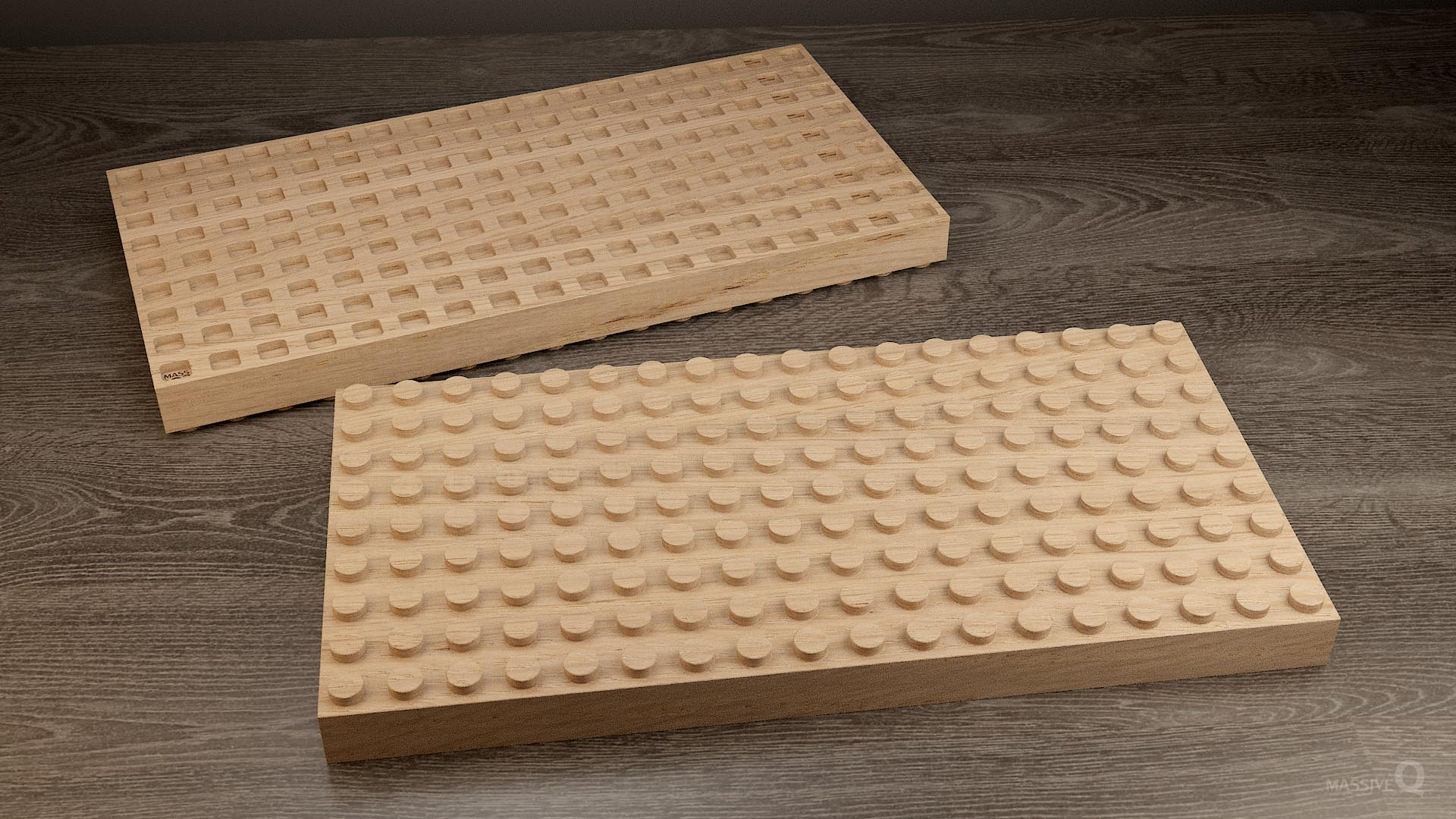 Q Brick 9×18 – Oak