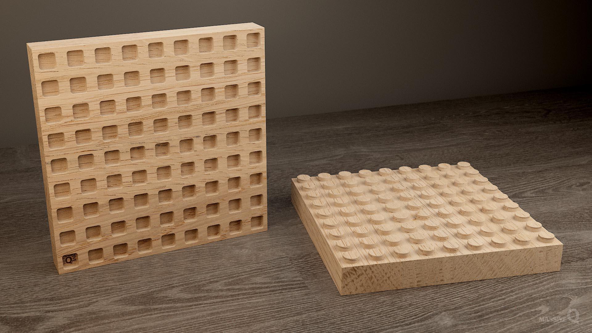 Q Brick 9×9 – Oak
