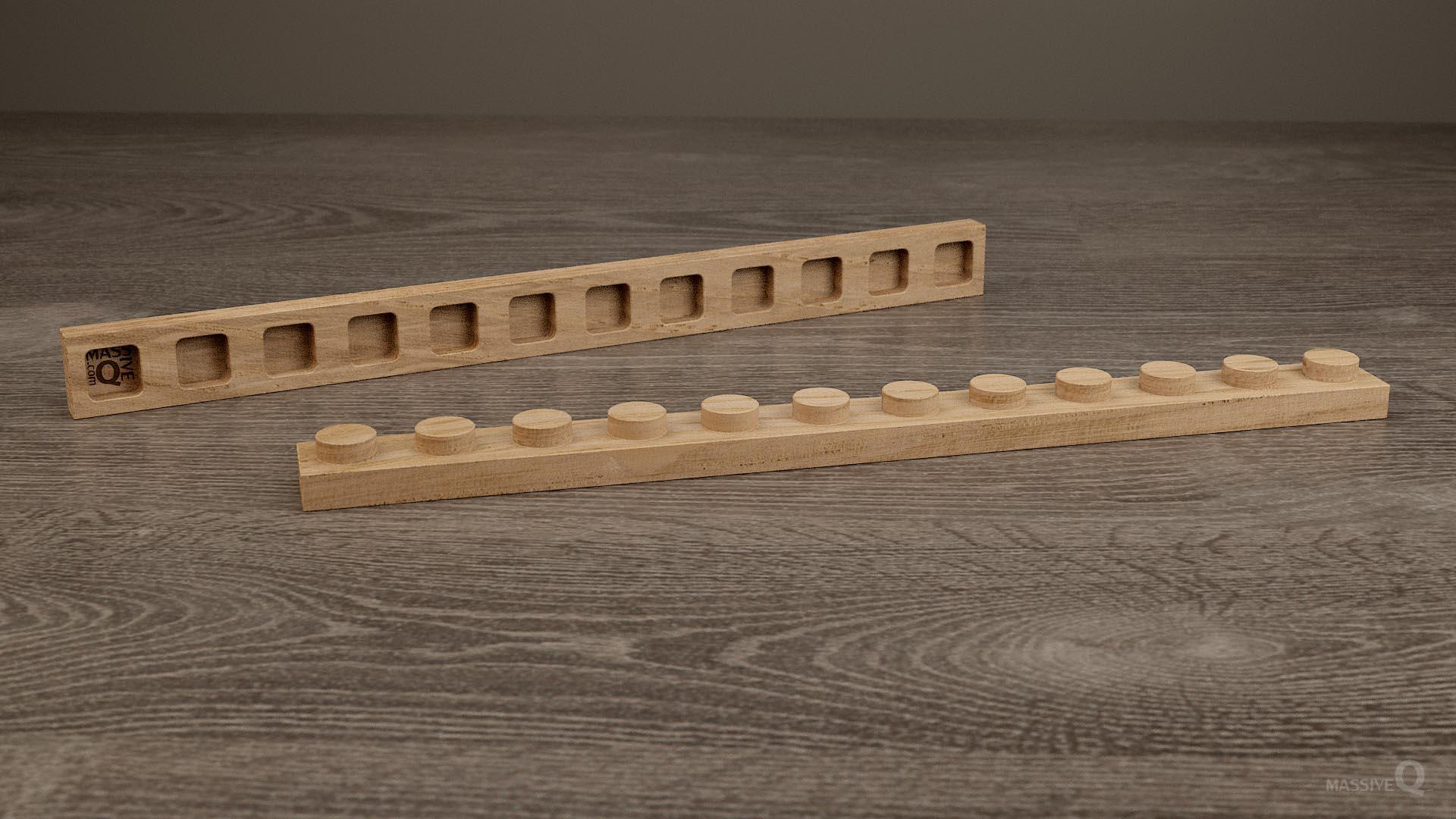 Q Plate 1×12 – Oak