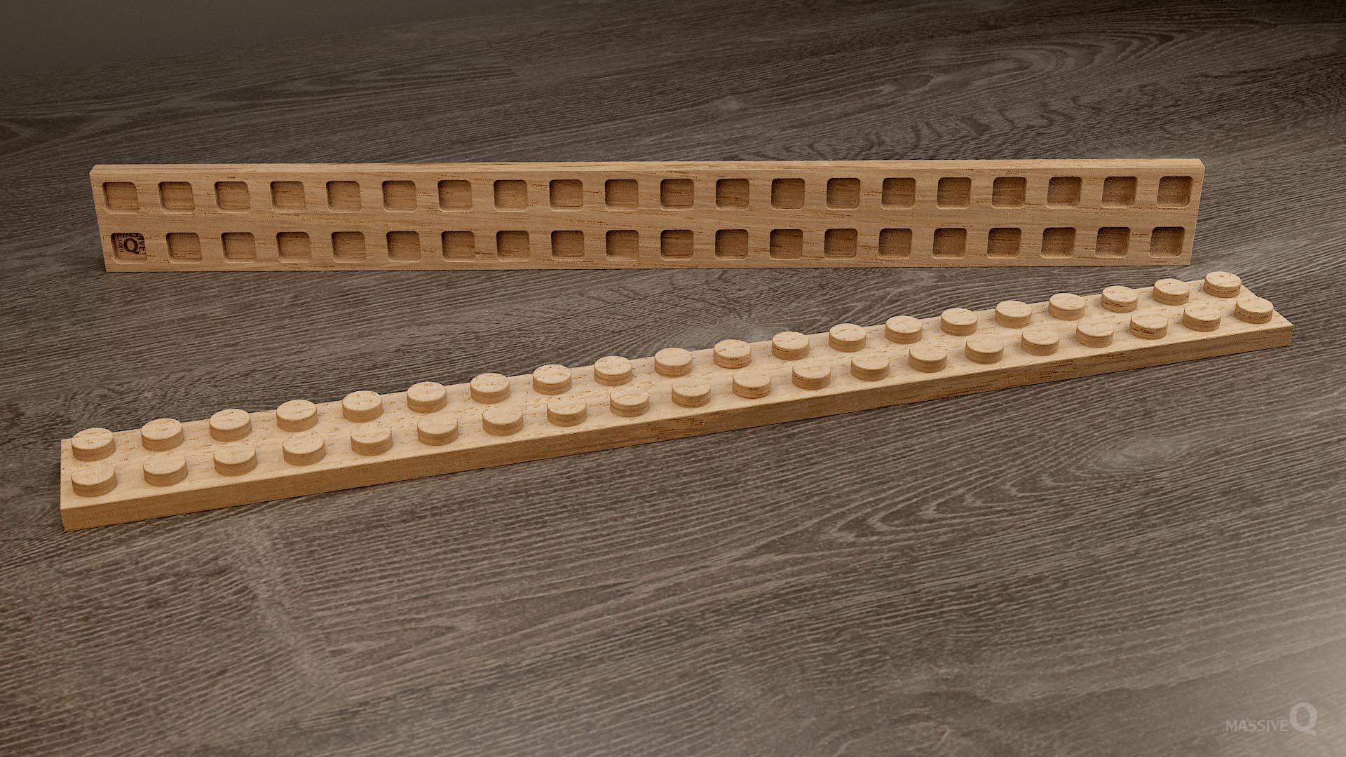 Q Plate 2×20 – Oak