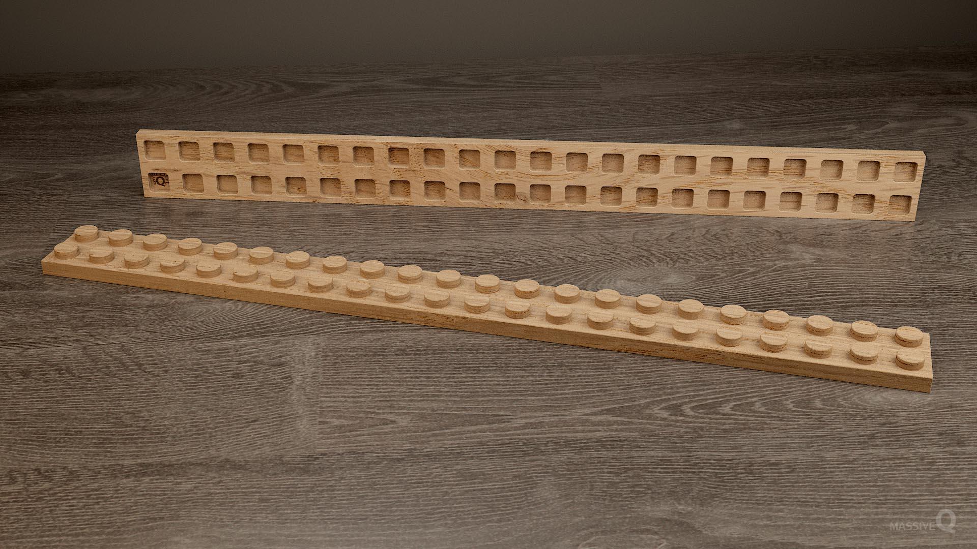 Q Plate 2×22 – Oak