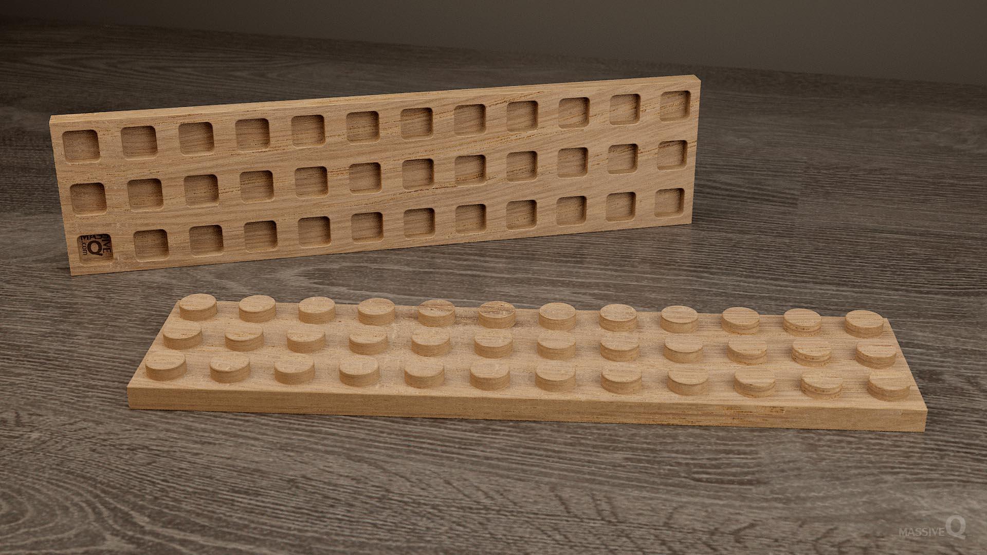 Q Plate 3×12 – Oak
