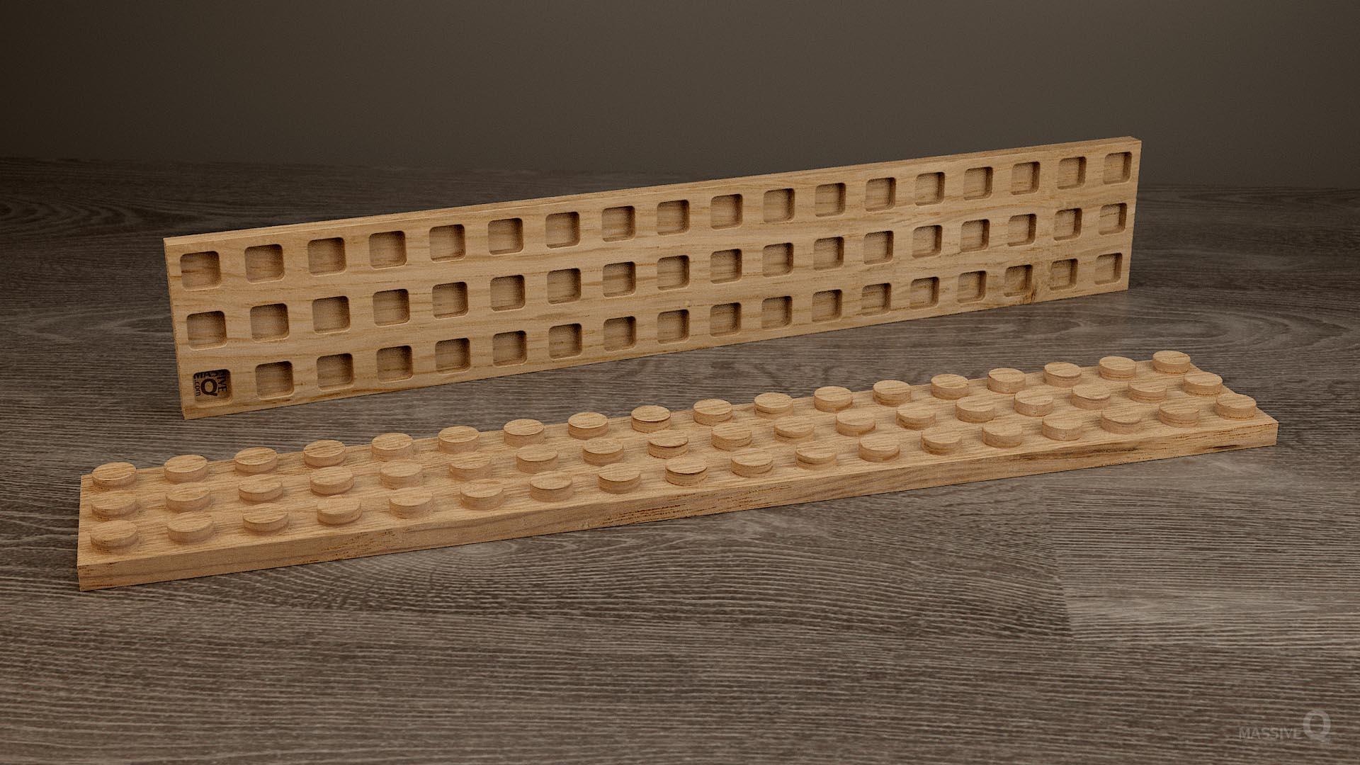 Q Plate 3×18 – Oak