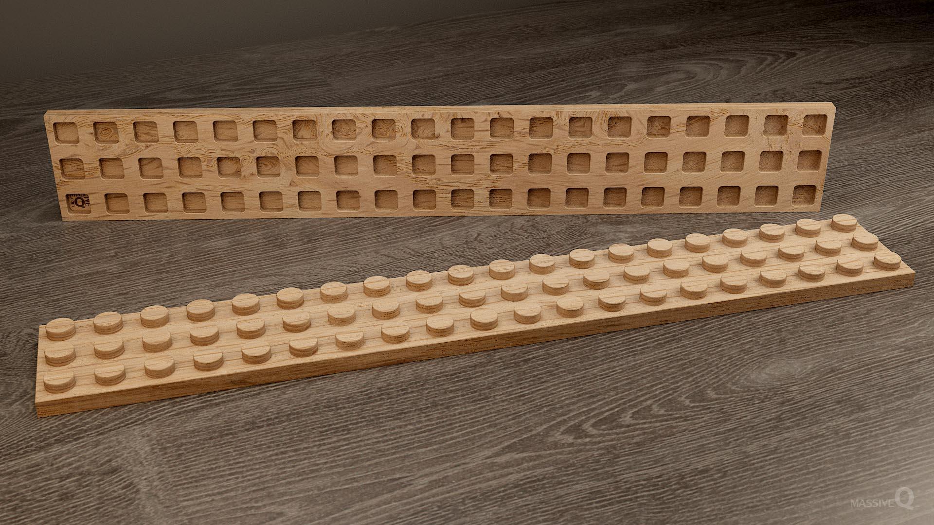 Q Plate 3×20 – Oak