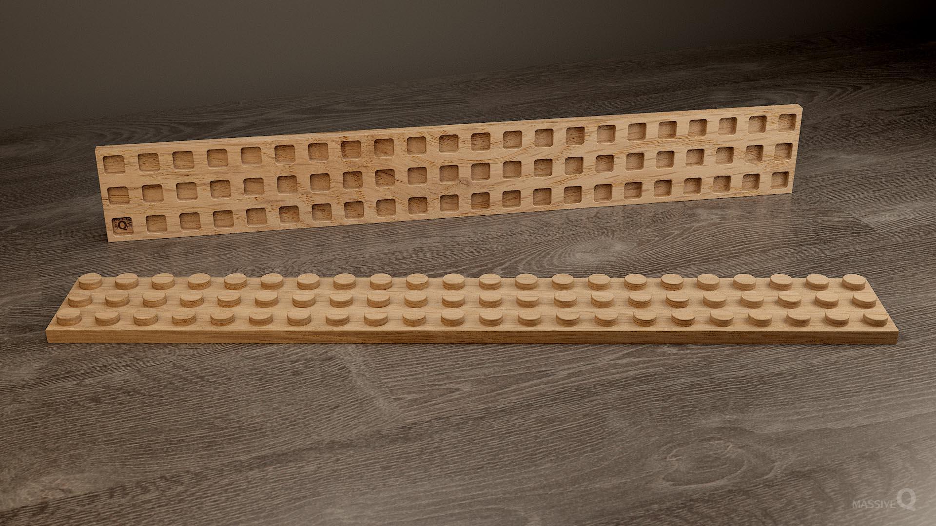 Q Plate 3×22 – Oak