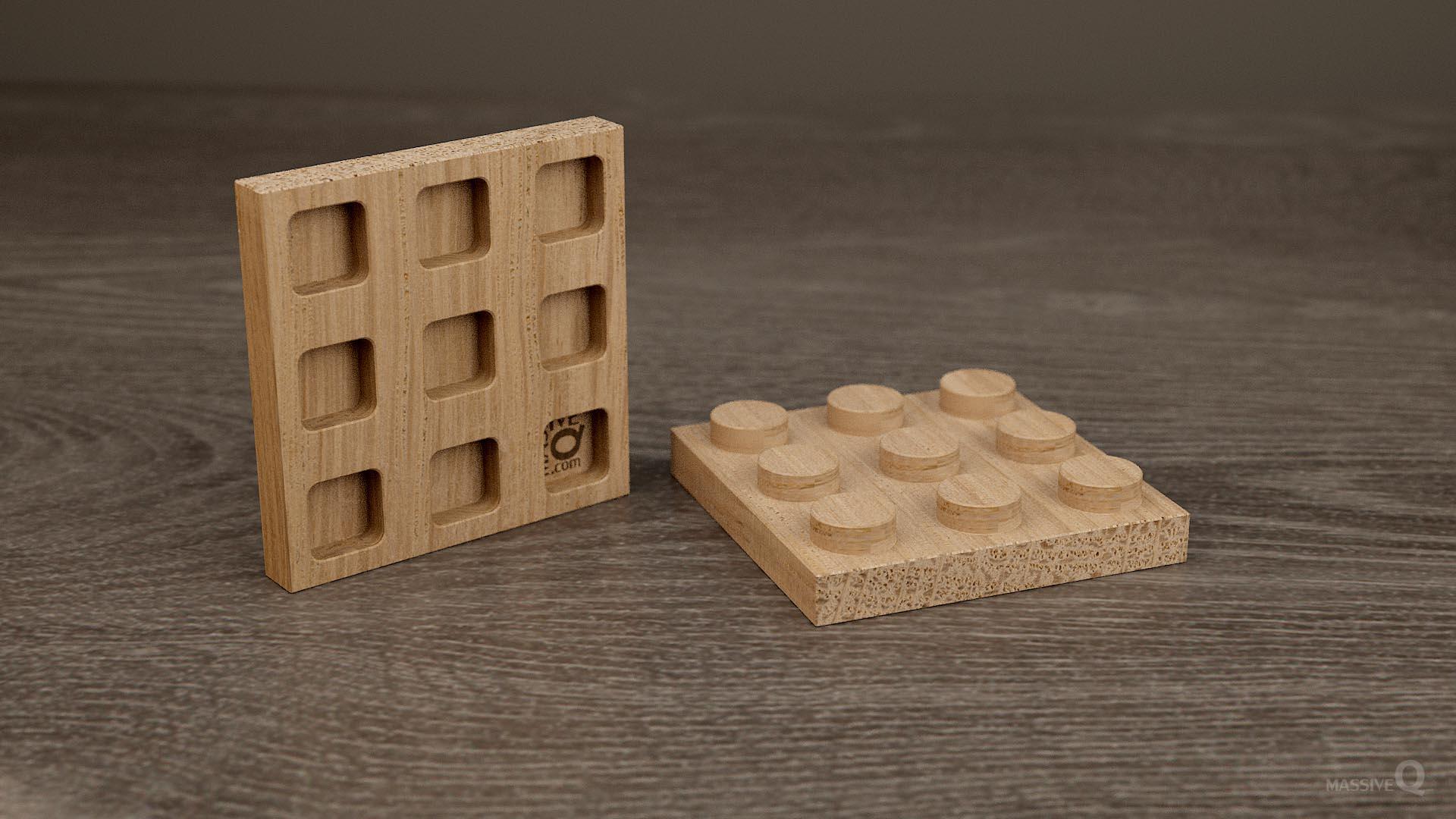 Q Plate 3×3 – Oak