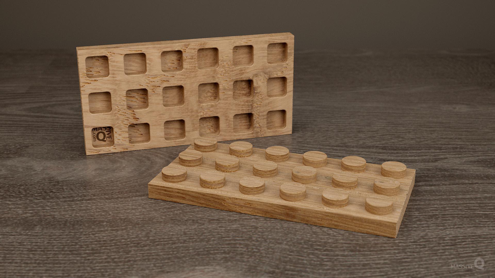 Q Plate 3×6 – Oak