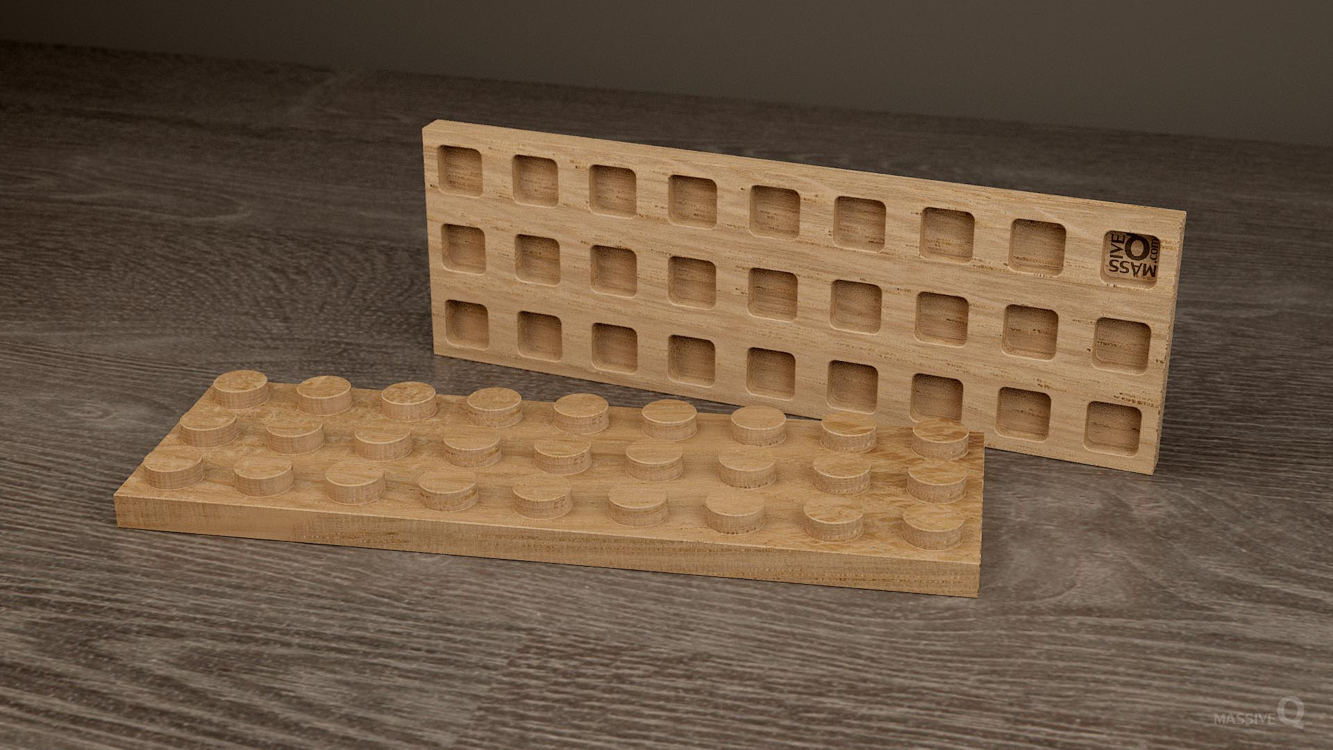 Q Plate 3×9 – Oak