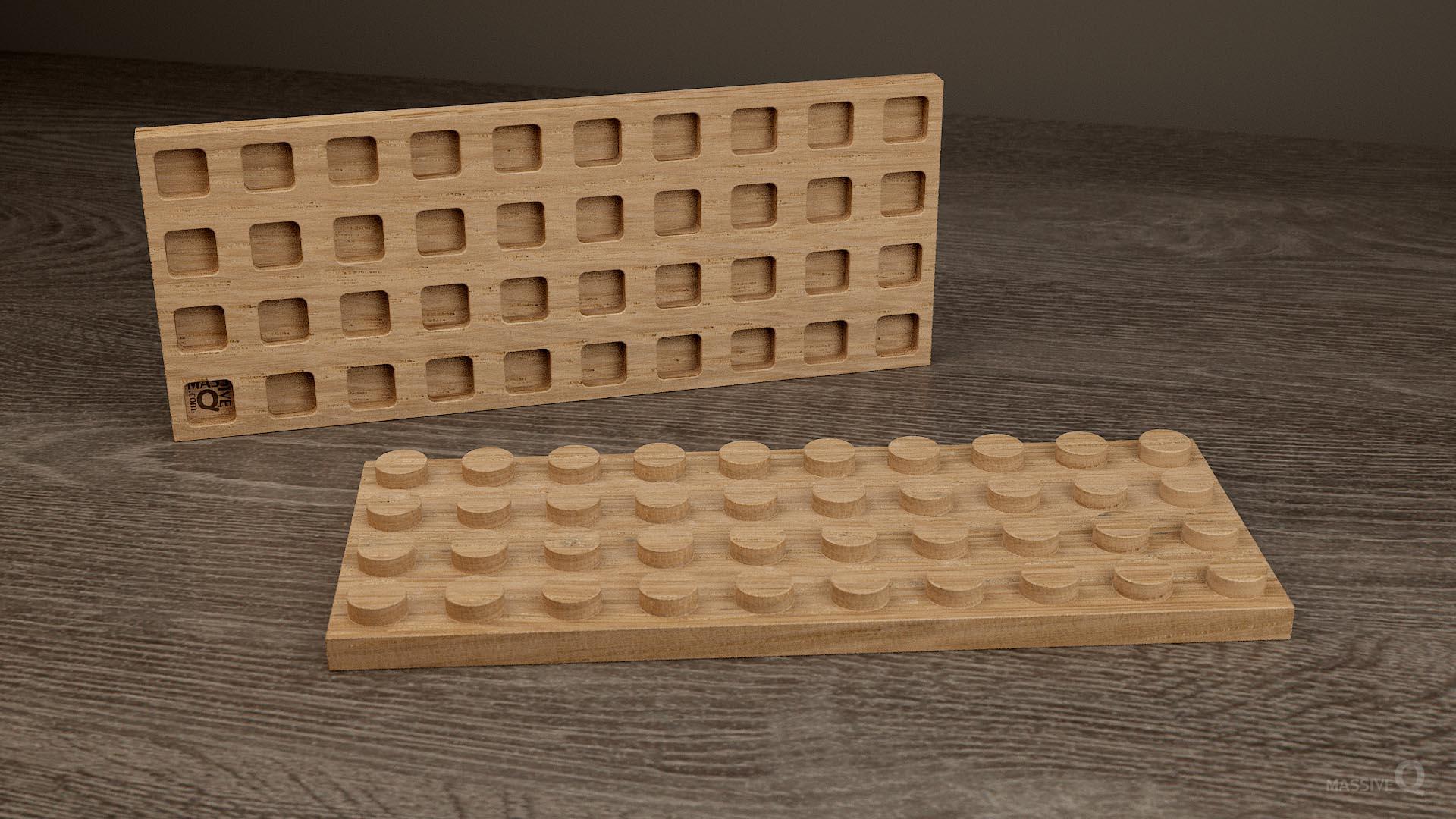 Q Plate 4×10 – Oak