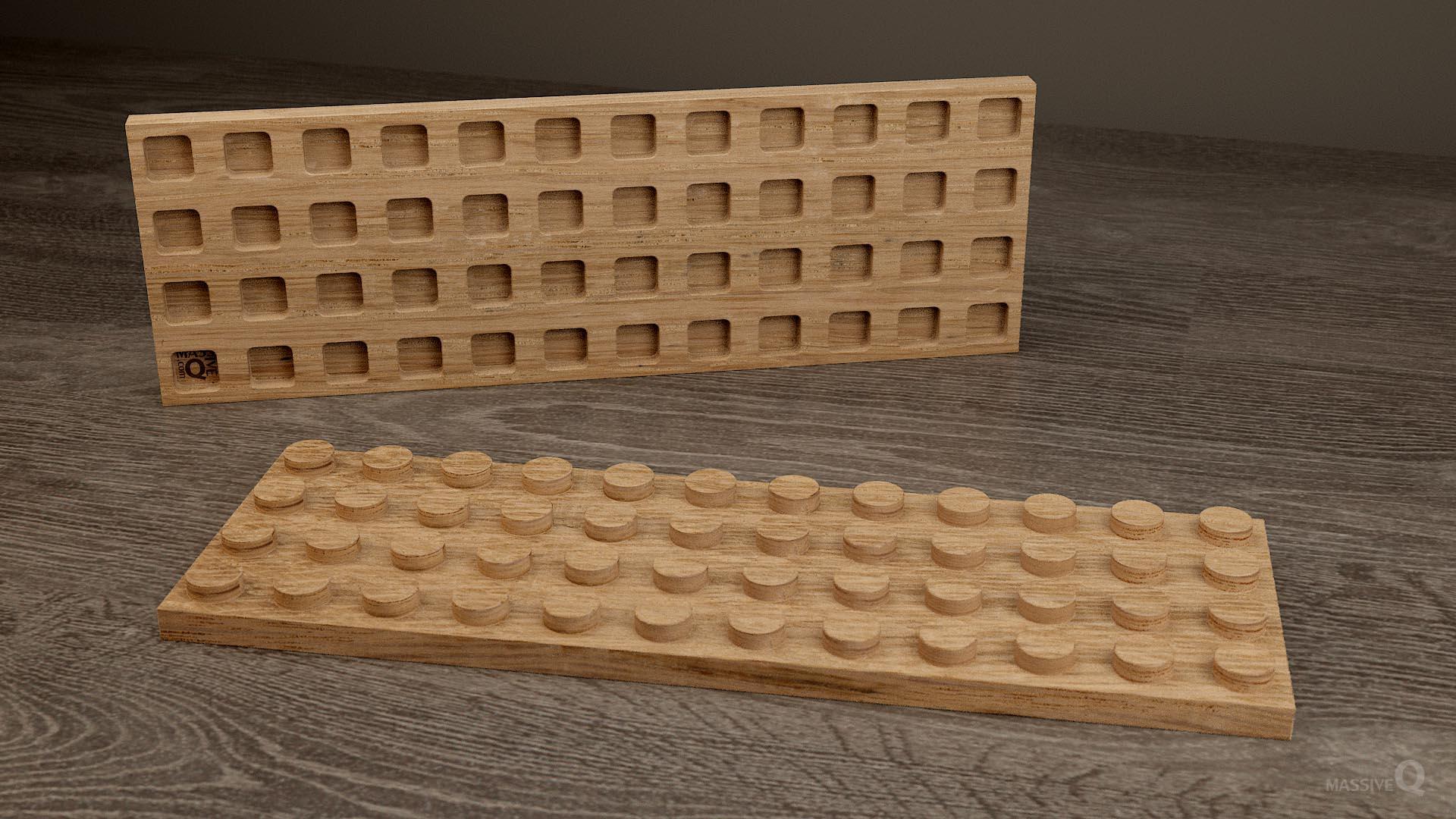 Q Plate 4×12 – Oak