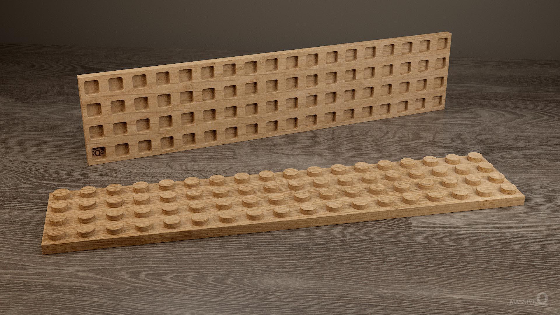 Q Plate 4×18 – Oak