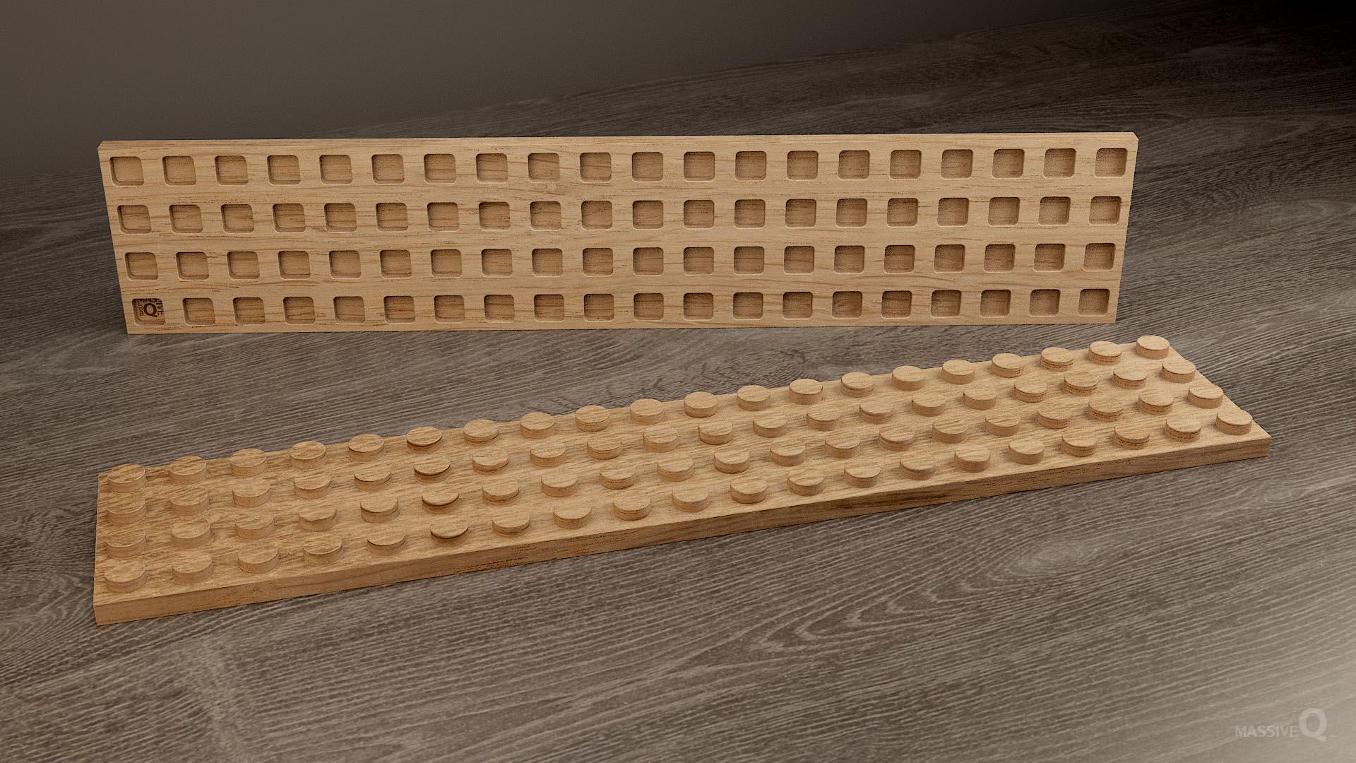 Q Plate 4×20 – Oak