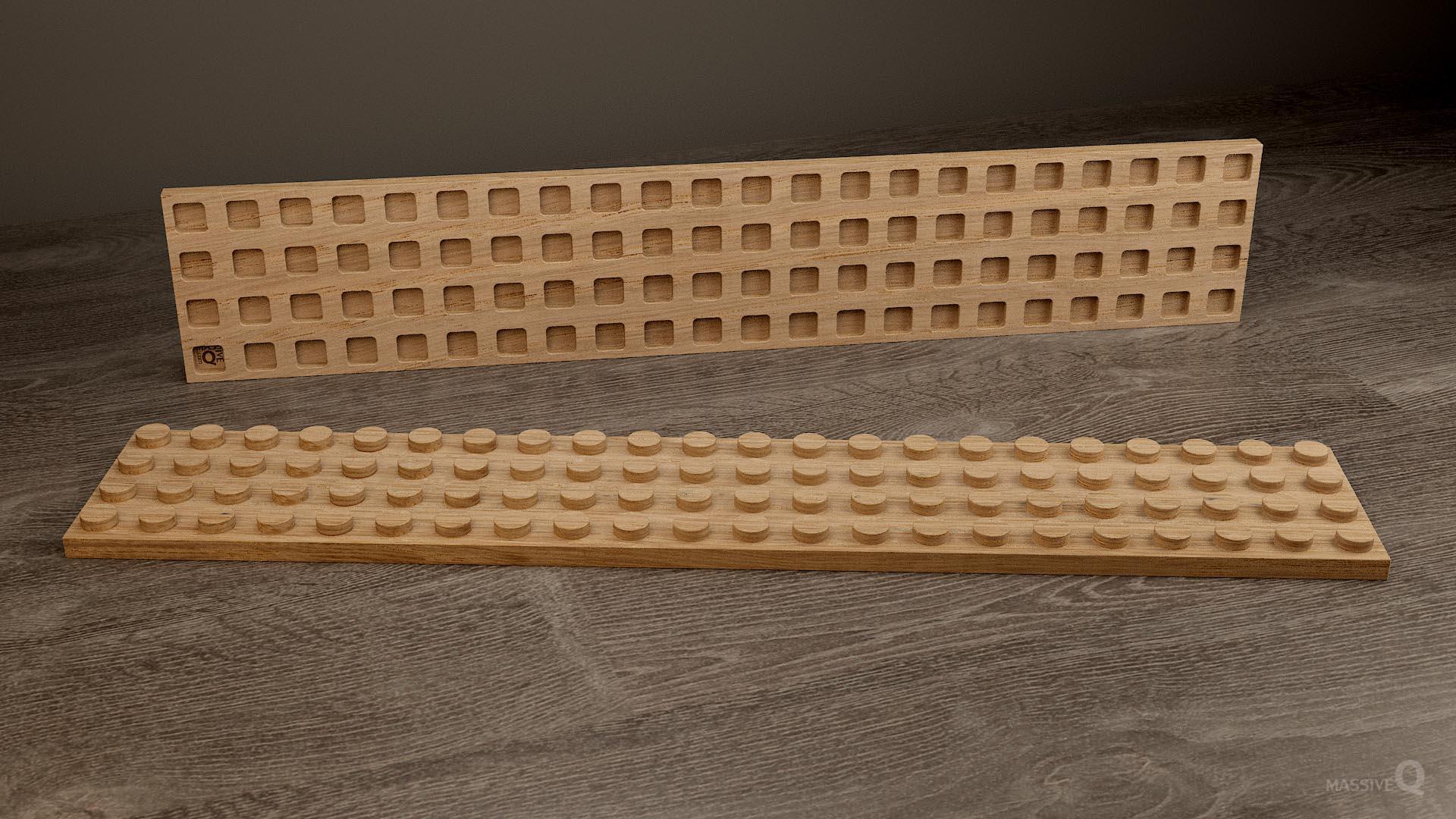 Q Plate 4×22 – Oak