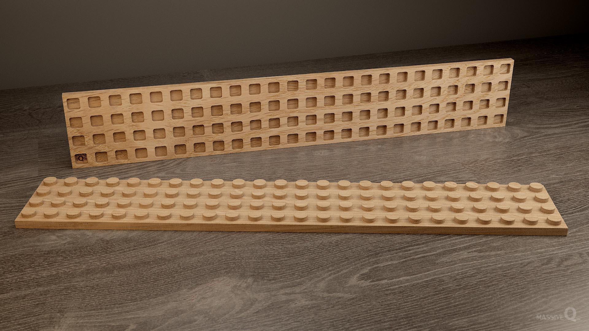 Q Plate 4×24 – Oak