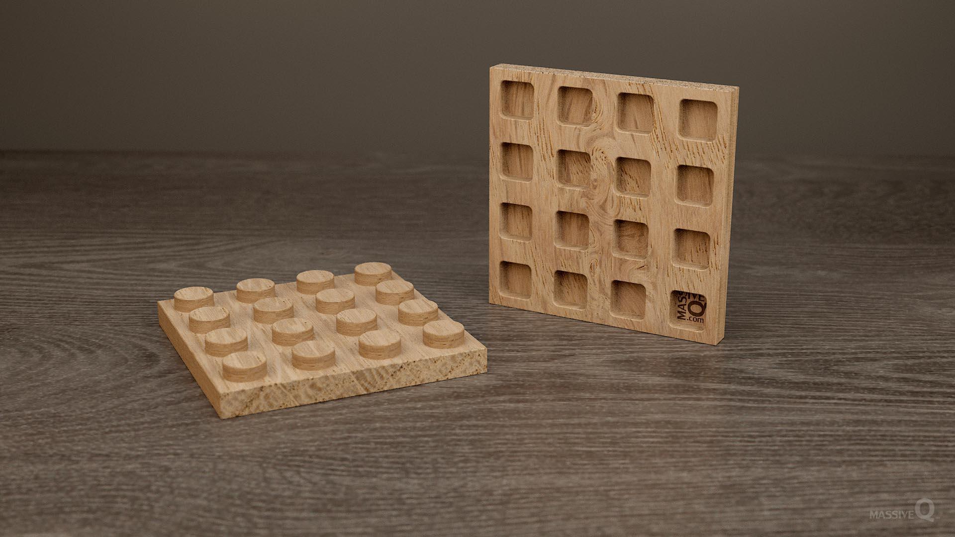 Q Plate 4×4 – Oak